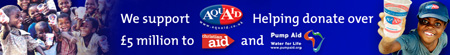 We support Aqua Aid: helping donate over £5 million to Christian Aid and Pump Aid.